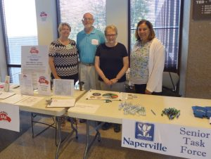Naperville Senior Task Force Members (l-r) Sue Fadden, Carl Skrabacz, Karen Courney, Nancy de la Hoz